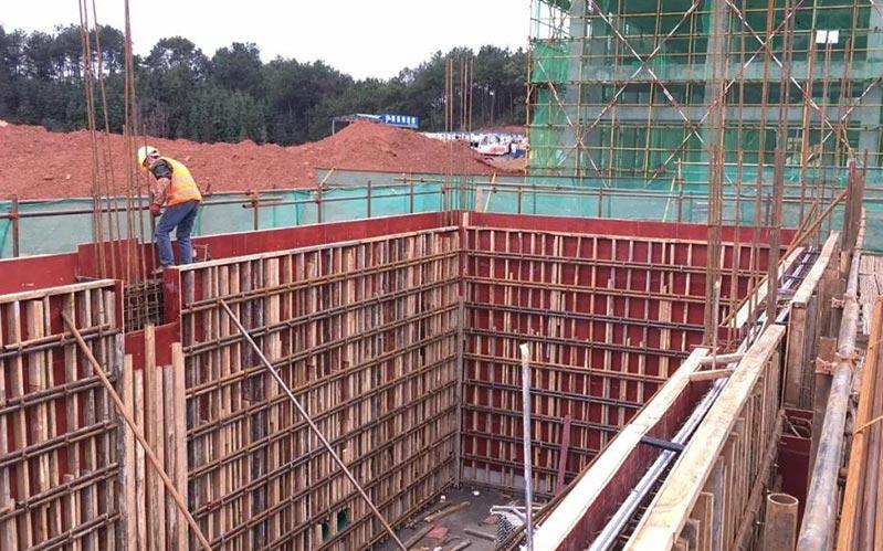木模板在工程中使用