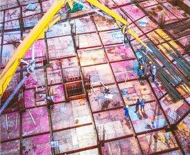 中铁建工项目-使用铁红面建筑模板
